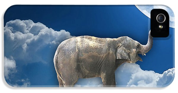 Flight Of The Elephant IPhone 5 Case by Marvin Blaine