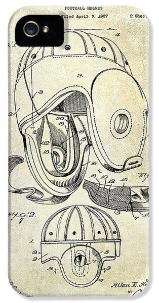 1927 Football Helmet Patent IPhone 5 Case