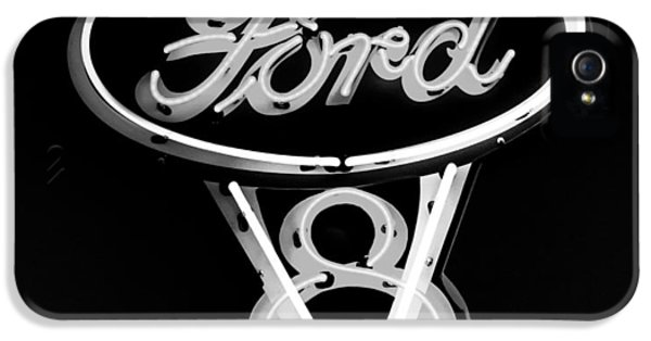 Ford V8 Neon Sign IPhone 5 Case