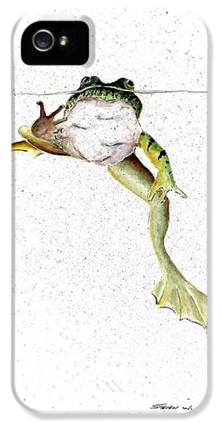 Frog On Waterline IPhone 5 Case