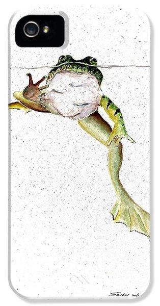 Frog On Waterline IPhone 5 / 5s Case by Steven Schultz