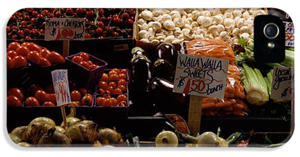 Cauliflower iPhone 5 Case - Fruits And Vegetables At A Market by Panoramic Images