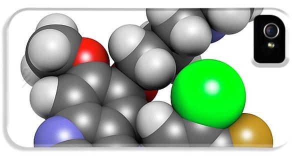 Gefinitib Cancer Drug Molecule IPhone 5 Case by Molekuul