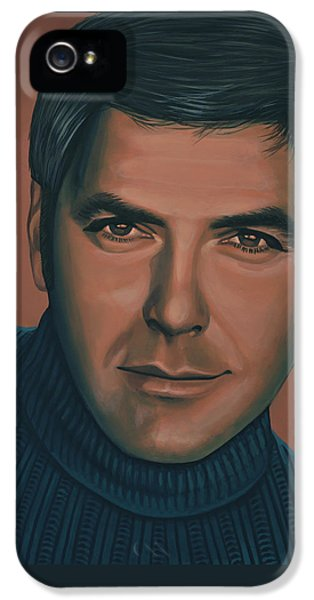 George Clooney Painting IPhone 5 Case