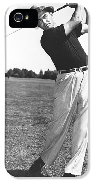 Golfer Sam Snead IPhone 5 Case by Underwood Archives