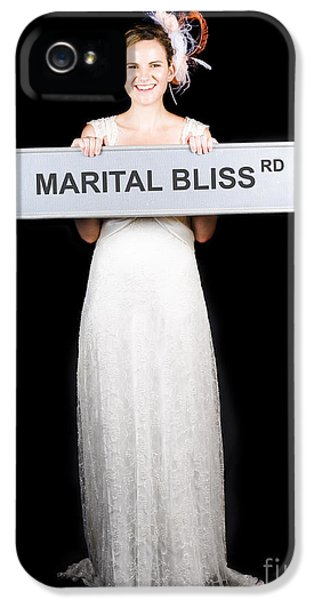 Happy Bride On The Road To Marital Bliss IPhone 5 Case by Jorgo Photography - Wall Art Gallery