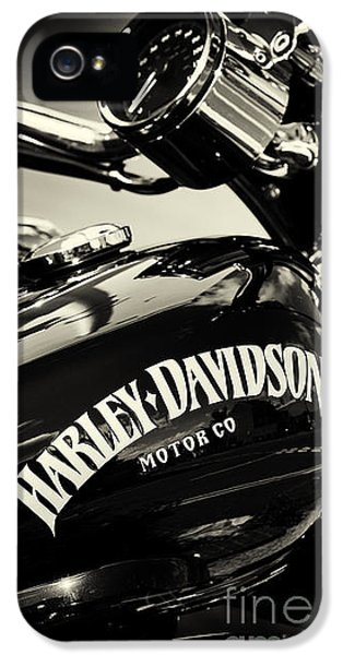 Harley D Sepia IPhone 5 Case by Tim Gainey
