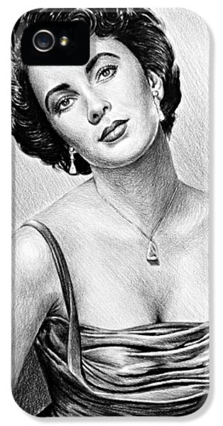 Hollywood Greats  Elizabeth Taylor IPhone 5 Case by Andrew Read