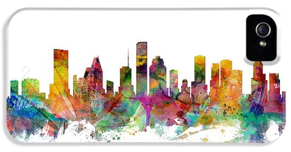 Houston Texas Skyline IPhone 5 Case by Michael Tompsett