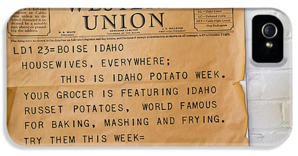 Idaho Potato Museum IPhone 5 / 5s Case by Jim West
