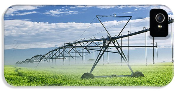 Rural Scenes iPhone 5 Case - Irrigation Equipment On Farm Field by Elena Elisseeva