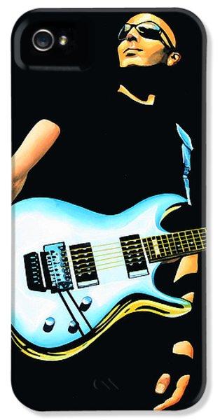Joe Satriani Painting IPhone 5 Case by Paul Meijering
