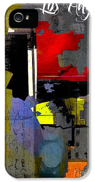 Los Angeles Map Watercolor IPhone 5 / 5s Case by Marvin Blaine