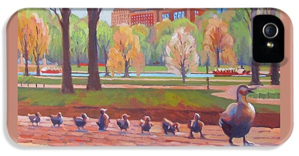 Boston iPhone 5 Case - Make Way For Ducklings by Dianne Panarelli Miller