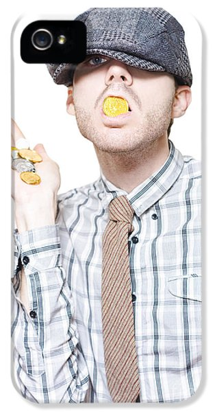 Money Laundering Business Man Swallowing Cash IPhone 5 Case by Jorgo Photography - Wall Art Gallery