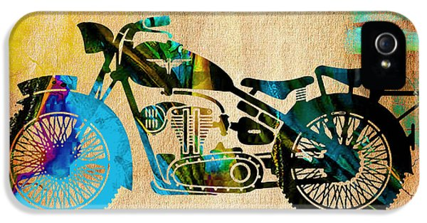 Motorcycle Painting IPhone 5 / 5s Case by Marvin Blaine