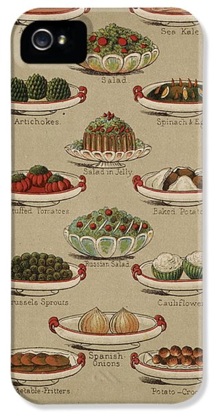 Cauliflower iPhone 5 Case - Mrs. Beeton's Family Cookery And Housekee by British Library