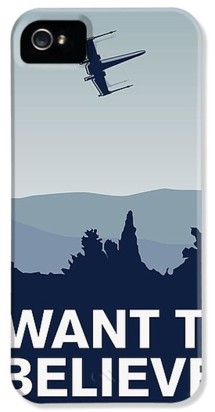 My I Want To Believe Minimal Poster-xwing IPhone 5 Case by Chungkong Art