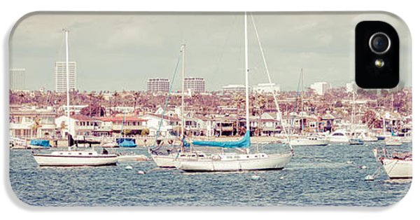 Newport Beach Panorama IPhone 5 Case by Paul Velgos