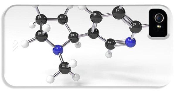 Nicotine Molecule IPhone 5 Case by Indigo Molecular Images