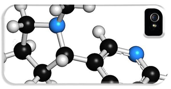 Toxicity iPhone 5 Case - Nicotine Tobacco Stimulant Molecule by Molekuul