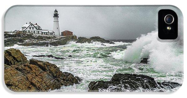 Ocean Storm At Portland Head IPhone 5 Case