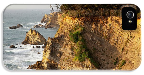 Or, Shore Acres State Park, Sandstone IPhone 5 Case by Jamie and Judy Wild