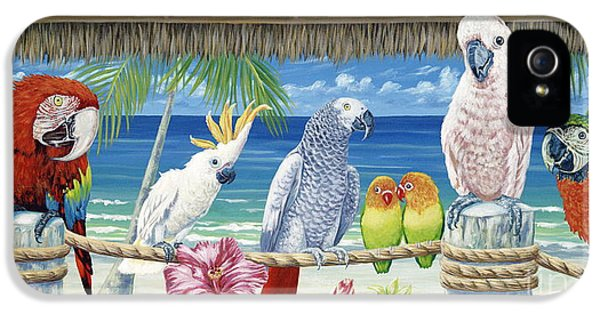 Parrot iPhone 5 Case - Parrots In Paradise by Danielle  Perry