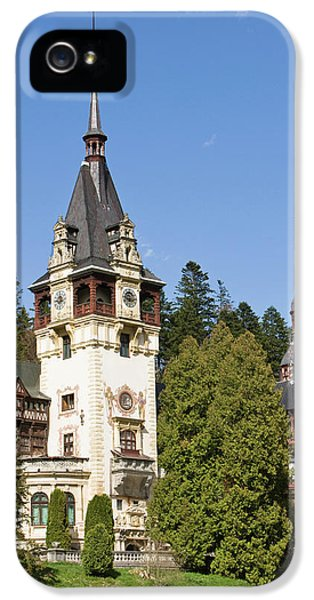 Peles Castle, Sinaia, Carpathian IPhone 5 Case by Martin Zwick