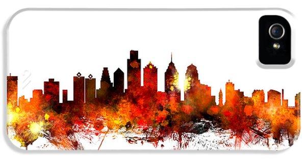 Philadelphia Pennsylvania Skyline IPhone 5 Case by Michael Tompsett