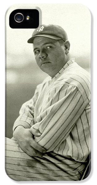 Portrait Of Babe Ruth IPhone 5 Case by Arnold Genthe