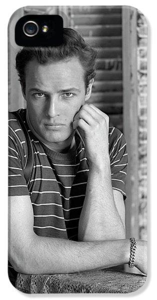Portrait Of Marlon Brando IPhone 5 Case by Serge Balkin