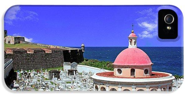 Puerto Rico, San Juan, Fort San Felipe IPhone 5 Case by Miva Stock