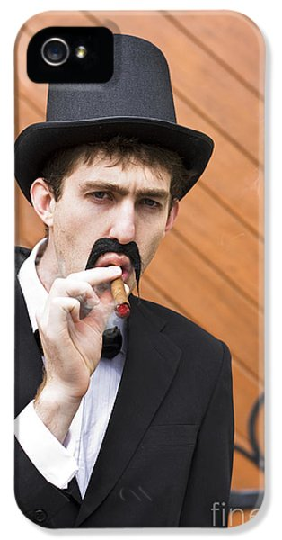 Puffing Pastime IPhone 5 Case by Jorgo Photography - Wall Art Gallery