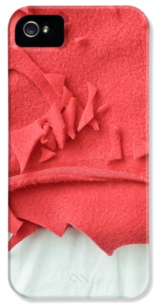 Red Fleece IPhone 5 Case by Tom Gowanlock