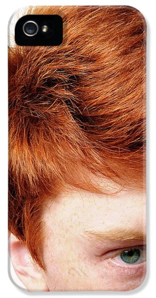 Red-haired Teenage Boy IPhone 5 Case by Cordelia Molloy