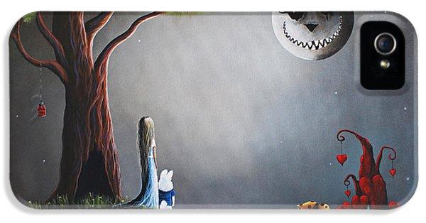 Castle iPhone 5 Case - Alice In Wonderland Original Artwork by Shawna Erback