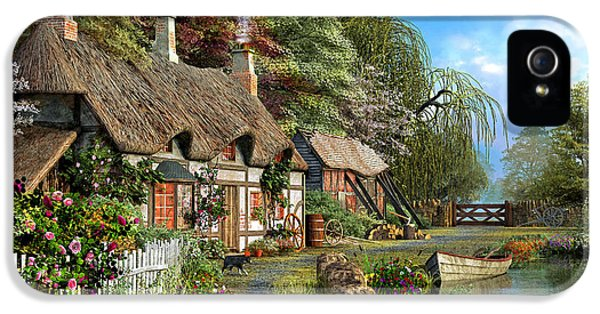 Riverside Home In Bloom IPhone 5 Case by Dominic Davison