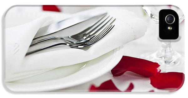 Romantic Dinner Setting With Rose Petals IPhone 5 Case by Elena Elisseeva