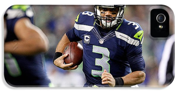 Russell Wilson  IPhone 5 Case by Marvin Blaine