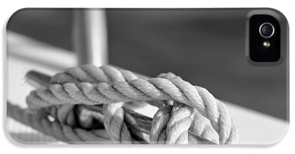 Sailor's Knot Square IPhone 5 Case by Laura Fasulo