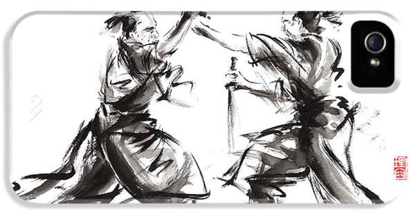 Samurai Sword Bushido Katana Martial Arts Budo Sumi-e Original Ink Sword Painting Artwork IPhone 5 Case by Mariusz Szmerdt