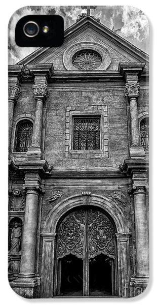 San Agustin Church  IPhone 5 Case by Adrian Evans