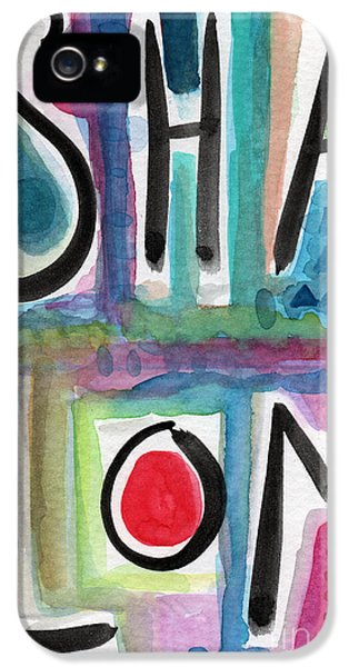 Shalom IPhone 5 Case by Linda Woods