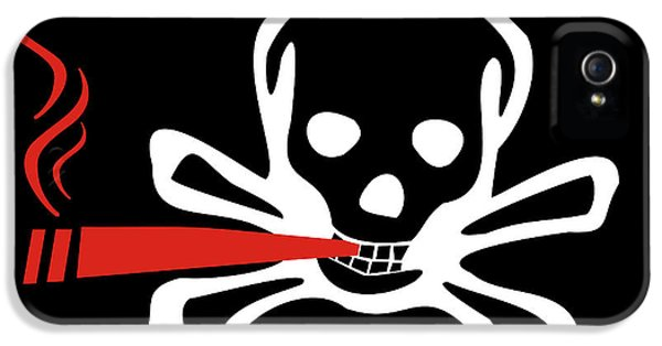 Toxicity iPhone 5 Case - Smoker Skull And Crossbones by Jorgo Photography - Wall Art Gallery