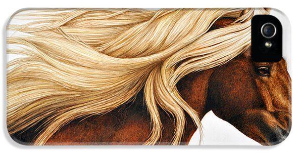 Horse iPhone 5 Case - Spun Gold by Pat Erickson