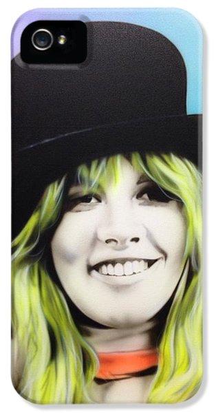 Stevie Nicks - ' Stevie ' IPhone 5 Case by Christian Chapman Art
