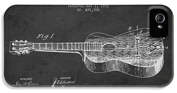 Guitar iPhone 5 Case - Stratton Guitar Patent Drawing From 1893 by Aged Pixel