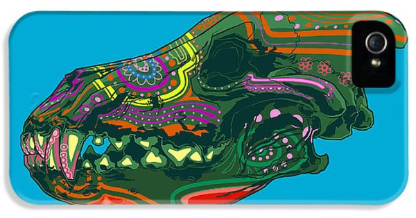 Folk Art iPhone 5 Case - Sugar Wolf by Nelson Dedos Garcia
