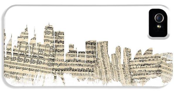 Sydney Australia Skyline Sheet Music Cityscape IPhone 5 Case by Michael Tompsett